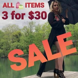 All items with 🛍 3 for $30. Bundle and SAVE!!
